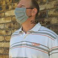 Size L/ Handmade Pleated Face Mask with filter pocket and Nose Wire