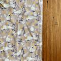 burp cloth - Australian cockatoos grey / organic cotton hemp / eco friendly