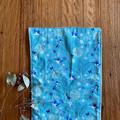 burp cloth - kingfisher / organic cotton hemp / eco friendly /  turquoise green