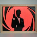 James Bond 007  Wax Painting Light Box