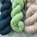 'Petrol' 5ply hand dyed superfine merino yarn
