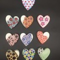 Decorative Concrete Magnetic Hearts, Home Decor Magnet, Funky Magnet, Classroom
