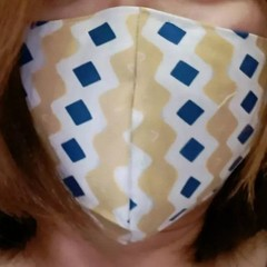 Homemade Fabric Face Mask W/ pocket for filter (Filter NOT included) Adult
