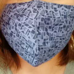 Homemade Fabric Face Mask W/Pocket for Filter (Filter NOT included)