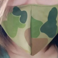 Homemade Fabric Face Mask w/pocket for filter (Filter NOT included) Camouflage