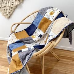Rainbow Sloth cot blanket