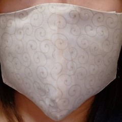 Homemade Fabric Face Mask W/ Pocket for Filter (Filter NOT included) Adult Swirl