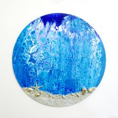 WALL ART Ocean Theme Acrylic Pour