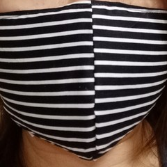 Homemade Cotton Face Cover Mask W/Pocket for Filter (Filter NOT included) Skull
