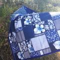 PICNIC RUG  - BLUE FLORAL