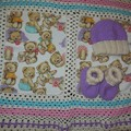 Fleece Baby Blanket/ Baby Beanie and Booties