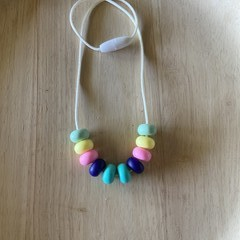 Silicone bead kids necklace