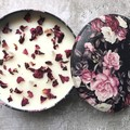 Midnight Rose Triple Wick Soy Candle - Rose + organic rose petals