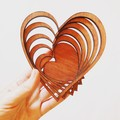 Heart shaped jarrah bowl (xs)