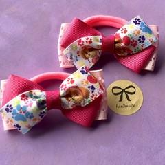 Girls stunning character matching hair tie bows