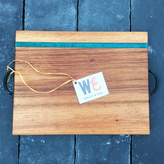 Handmade Australian Hardwood and Eco Resin Serving Board