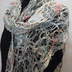 Fairy Floss - floating fibre  scarf