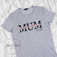 Mother's Day personalised t-shirt / mum shirt/ mum and kids names