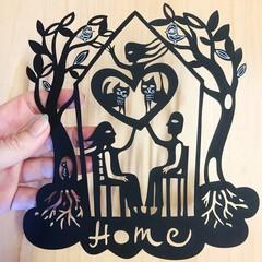 Home woodcut