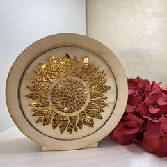 Sunflower Round Lightbox