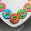 Button necklace - Colour Therapy