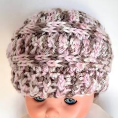 Beanie - size baby 6-12 months old - crochet beanie hat