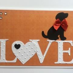 Love Handmade Card - dog lover
