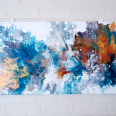 Abstract Art Painting - Acrylic Pour - Fluid Art - Wall Decor - Canvas Painting
