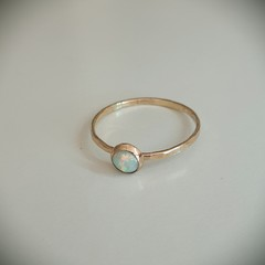 14k Gold-filled lab opal ring