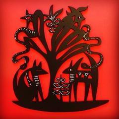 Animal Tree woodcut