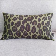 Cushion cover - khaki leopard print