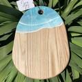 Turquoise Ocean Resin Art Ashwood Cheeseboard
