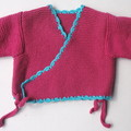 Baby Hand Knitted Kimino Jacket - Size 0-3 months