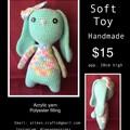 Rabbit soft toy Crochet