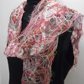 Colleen - floating fibre  scarf