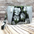 White Rose Zip Pouch/Clutch