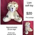 Crochet Lion soft toy
