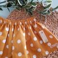 Mustard Polka Dot Skirt Size 4, 6 & 10