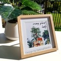 Plant Lady Gift Pack / Mothers Day / Frame & Keyring / Lava / Inc Expr Post!