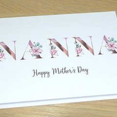 Mothers Day Card  - Magnolias  - Nanna