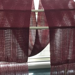 Handwoven Lightweight Scarf, Tencel, Burgundy