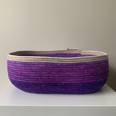 Rope Basket - Ombre Purple Large