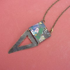 Ives - Collage pendant reversible
