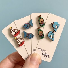 At Sea Earring Studs