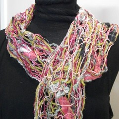Fiona - floating fibre  scarf