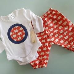 Baby Boys Elephant Pants SetSize 00