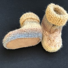Snuggly Hand-knitted boots