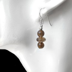 Smoky Quartz sterling earrings