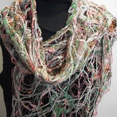 Freshness - floating fibre  scarf
