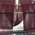 Lightweight Lacy Scarf, Handwoven Tencel, Burgundy